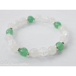 Náramek zeleno-bílý 1