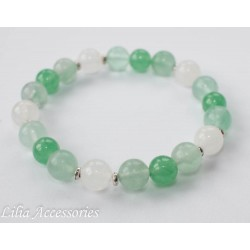 Náramek zeleno-bílý 2